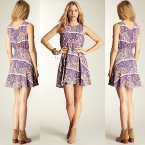 FREE PEOPLE Dancing Pretty Paisley Skater Dress